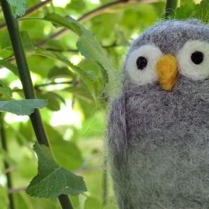 wool owl in tree
