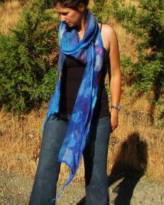 felted nuno scarf plumblossomfarm.com